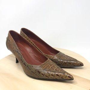 Donald J Pliner Couture Womens 8.5M Croc Print D10